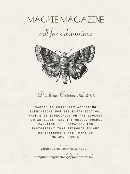 Magpie Magazine || Open Submissions! | Storm in a Teacup London