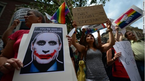 russia LGBT rights protest