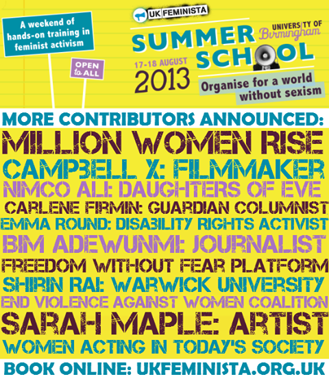 UK FEMINISTA SUMMER SCHOOL 2013
